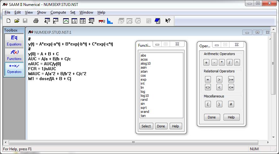 SAAM II Numerical Features - The Epsilon Group